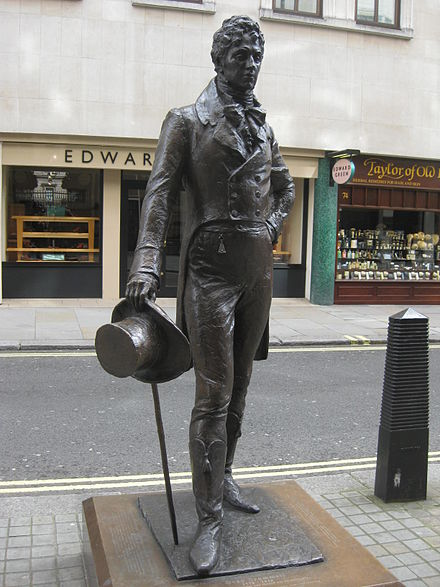ブランメルの彫像