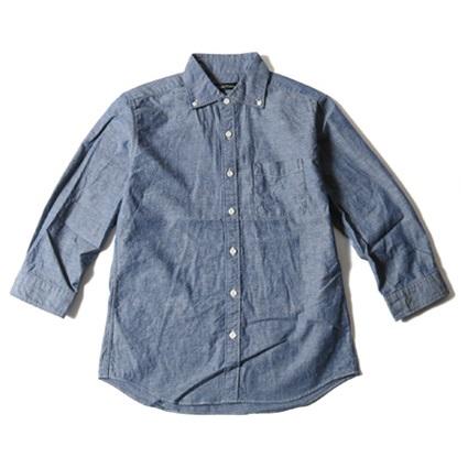 七分袖デニムシャツ