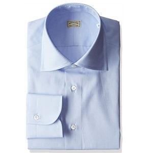 ANGLAISサックスブルーシャツ