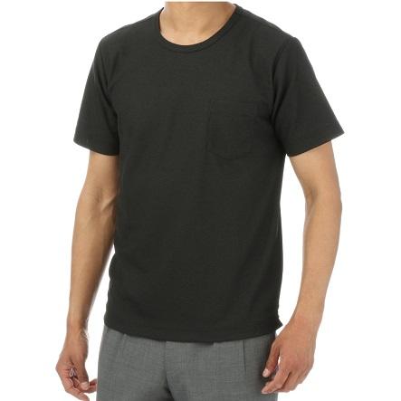 MORLESブラッククルーネックTシャツ