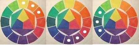 隣接3色のパターン例