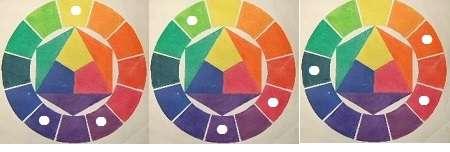 2等辺三角形3色のパターン例