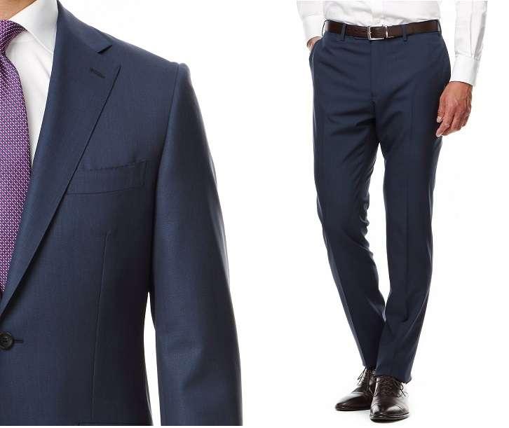 HILTON【伊・コロンボ生地使用】【Super130's】織り柄スタイリッシュスーツ