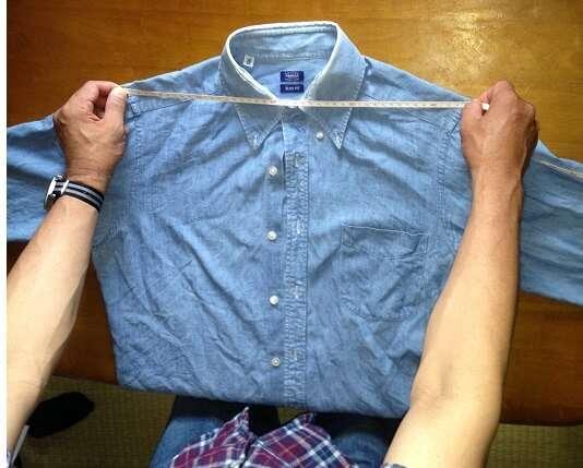 お気に入りシャツでサイジング