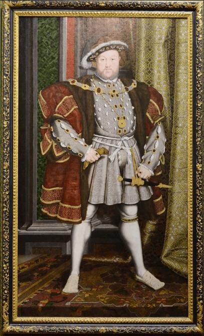 ヘンリ-8世肖像画(白のショース)