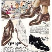 昔の革靴のイラスト広告